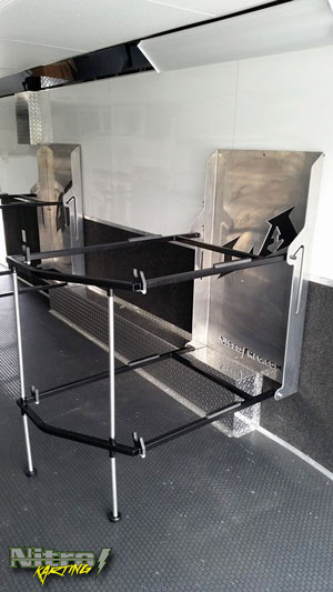 Karting kart trailer rack